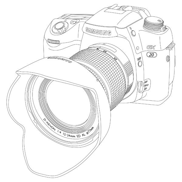 Slr camera drawing